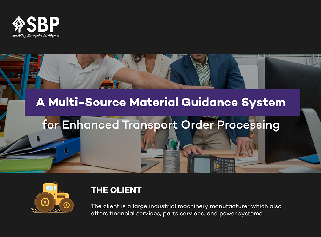 A Multi-Source Material Guidance System For Enhanced Transport Order Processing